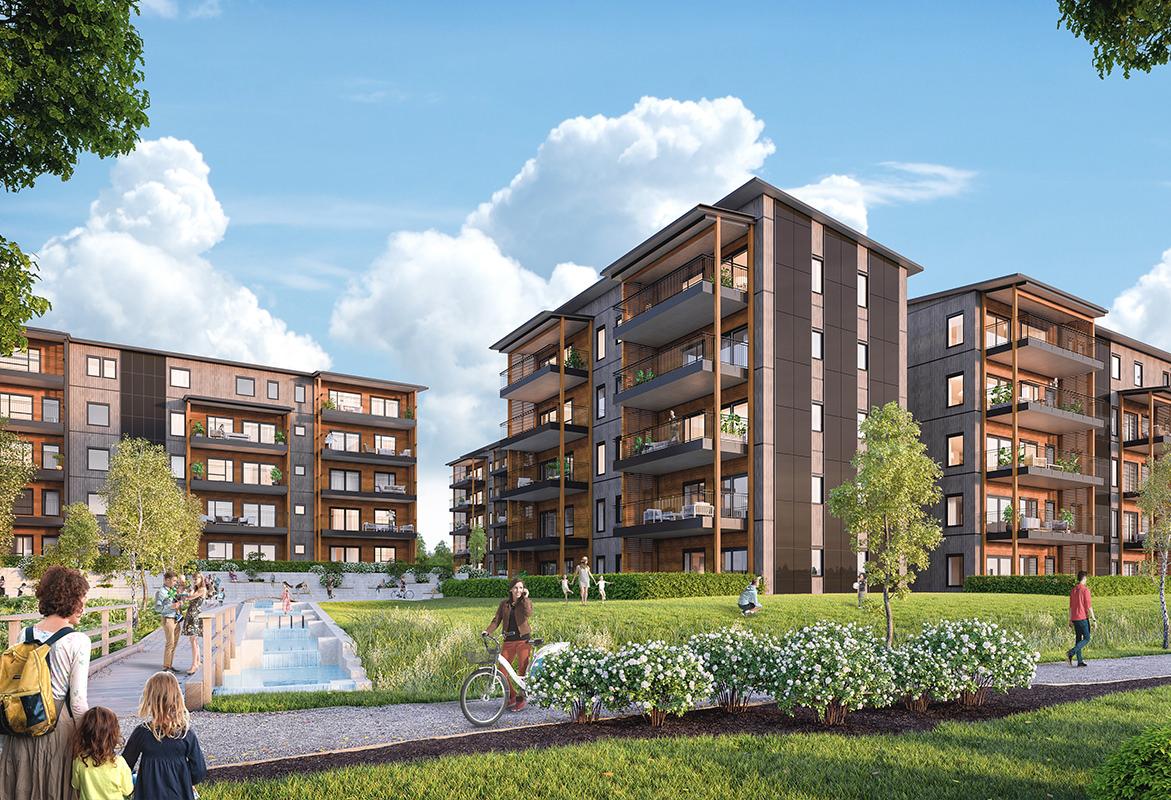 Andre byggetrinn i Verksbyen er leilighetene i Capjon Park
