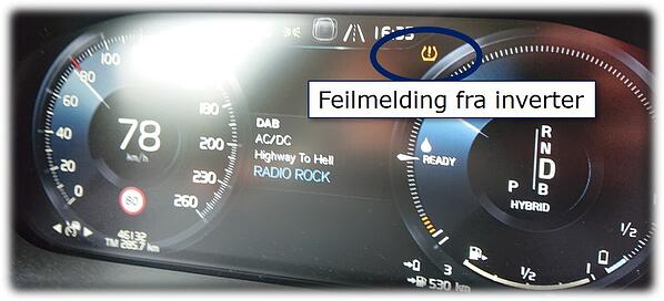 Feilmelding på Speedometer