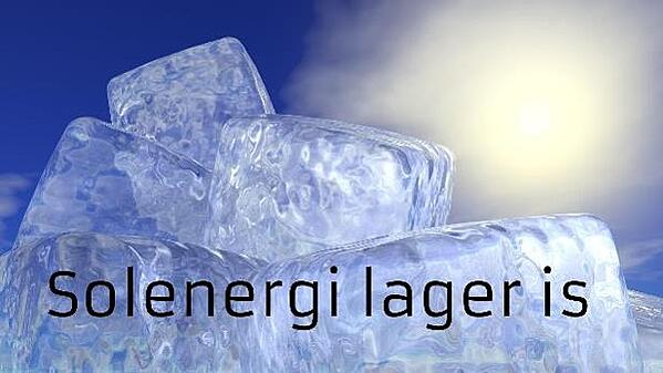 Solenergi lager is