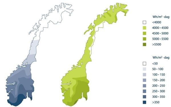 Solinnstråling i Norge