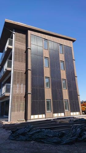 Verkshagen - Solceller fasade i boligstrøk