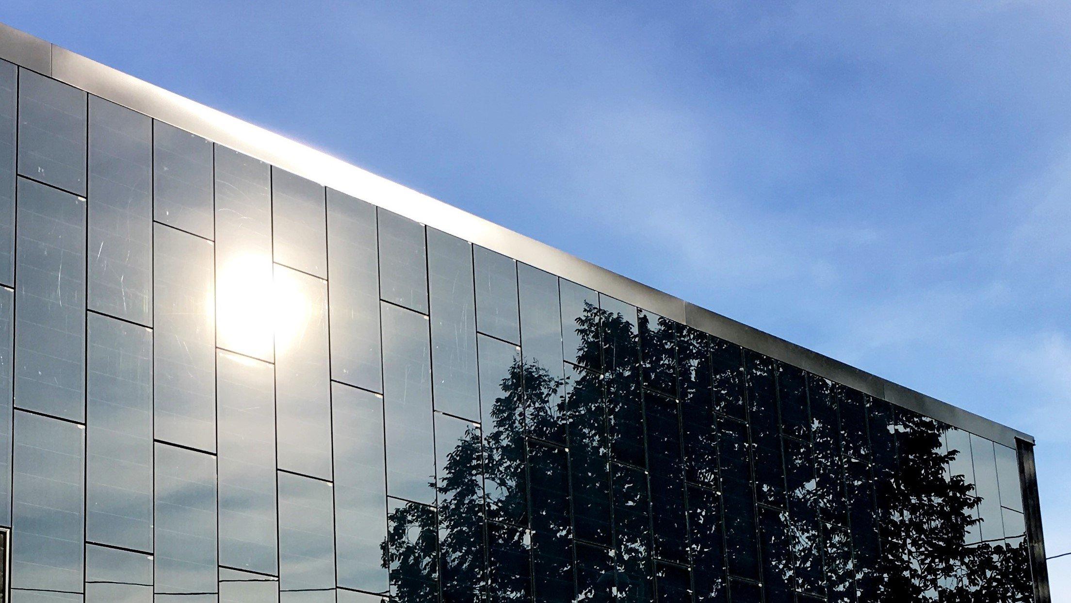Tynnfilm solceller i fasade