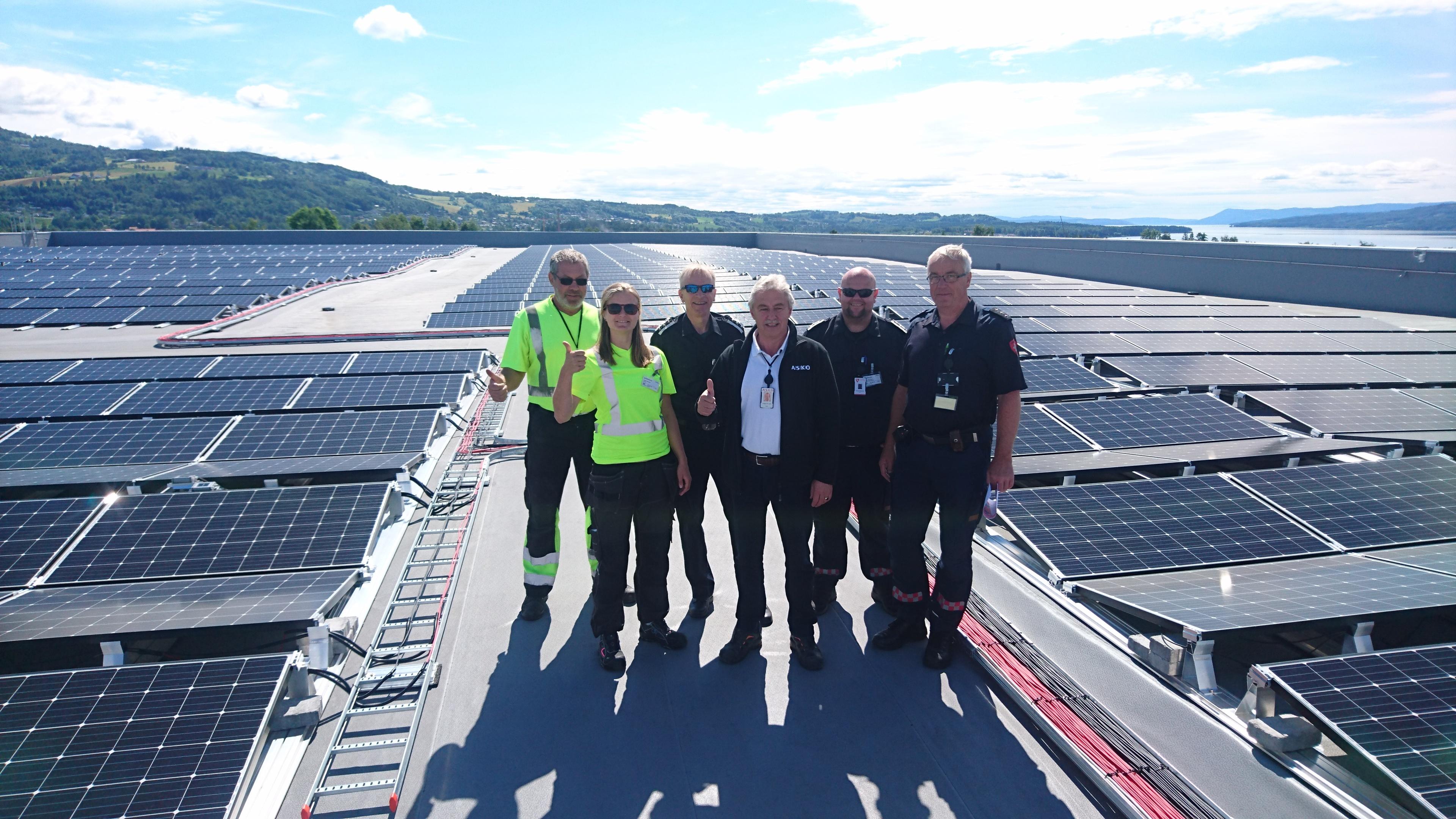 Solenergi og solcellepanel på lager og logistikkeiendom er lønnsomt